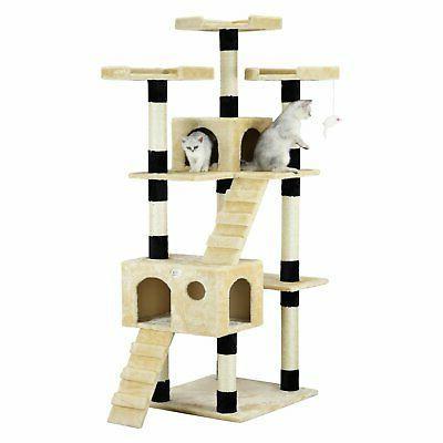 Go Pet Club Cat Tree 72 in. High