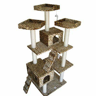 cat tree leopard print