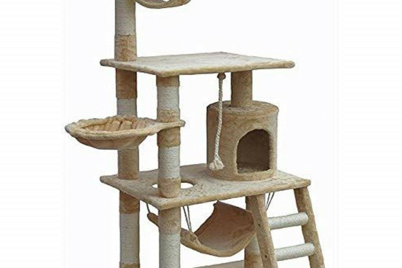 Cat Tree 62in w/ Sisal Rope Faux Fur