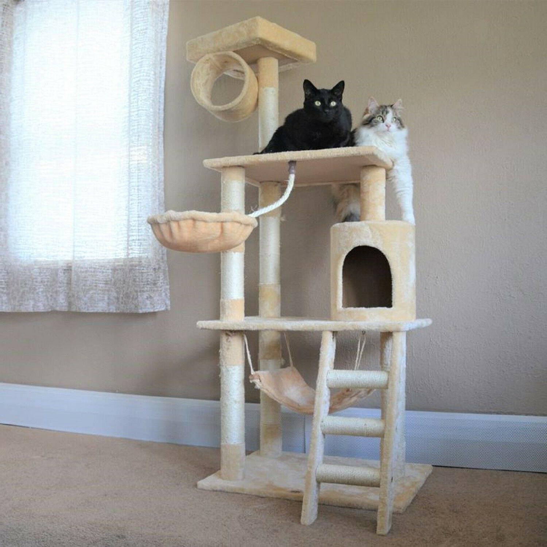Cat 62in Durable Wood w/ Sisal