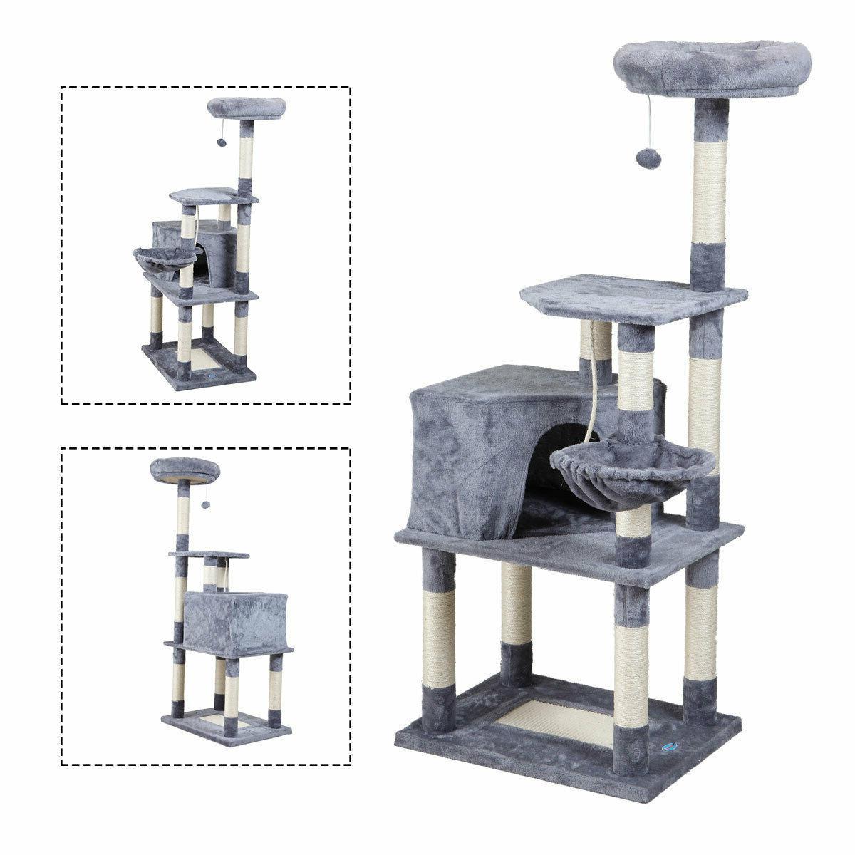 Cat Tree Tower Condo Furniture Play Grey