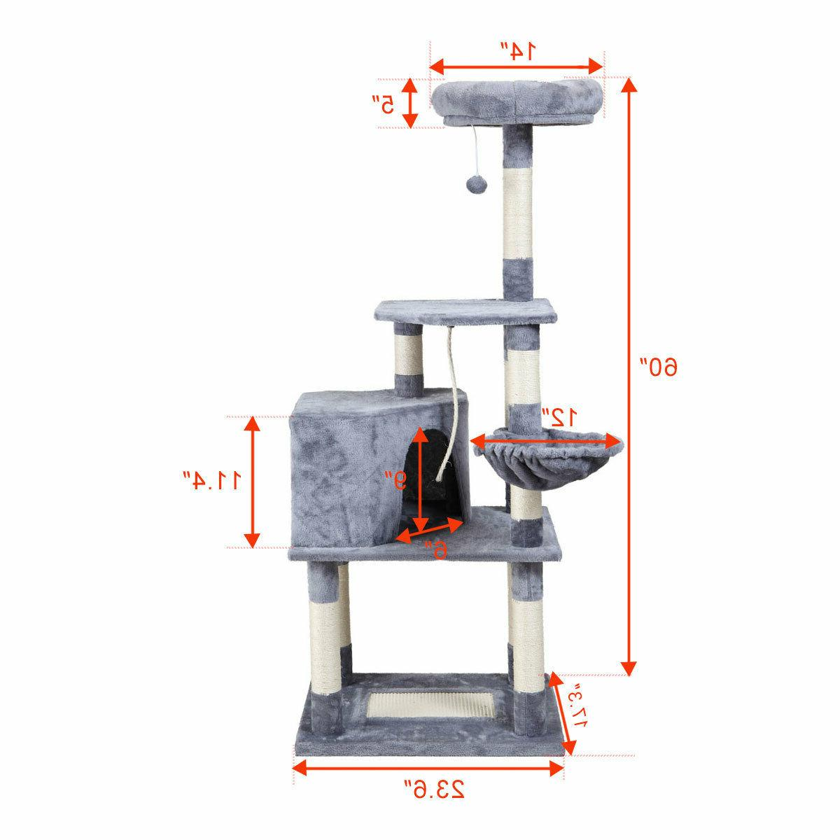 """Cat Tower Furniture Play 60"""""""