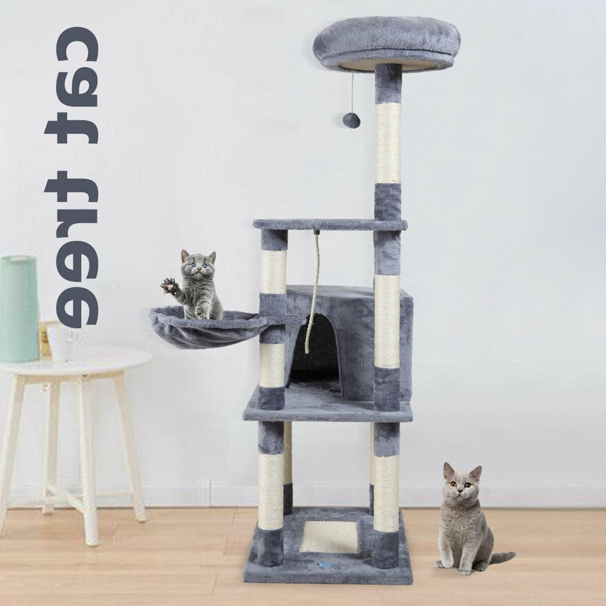cat tree tower condo furniture scratching kitty