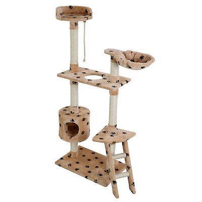 "60"" Cat Condo Furniture Pet House Hammock Paw"
