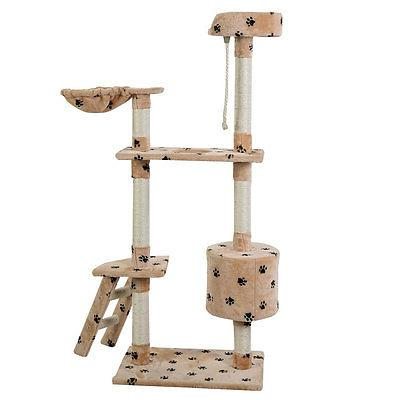 "60"" Tower Condo Furniture Kitten Pet House Paw"