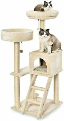 Cat Tree with Platform, Scratching Posts, X-Large Size