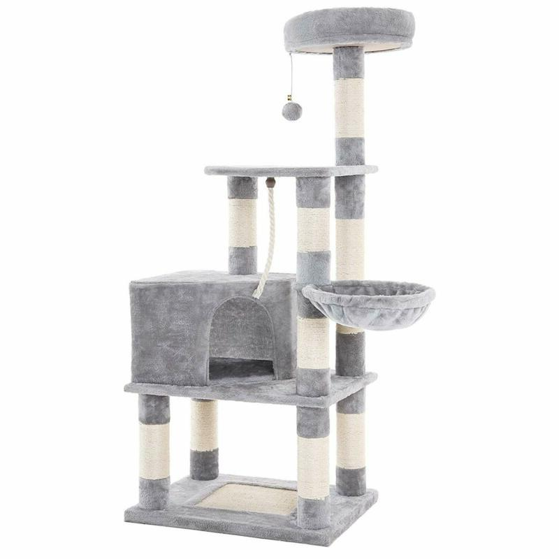 Feandrea Cat Tree With Scratching Board, Basket Lounger And