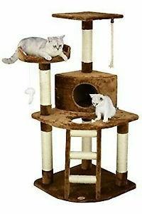 "Go Pet Club F49 48"" Brown Cat Tree Condo Furniture"