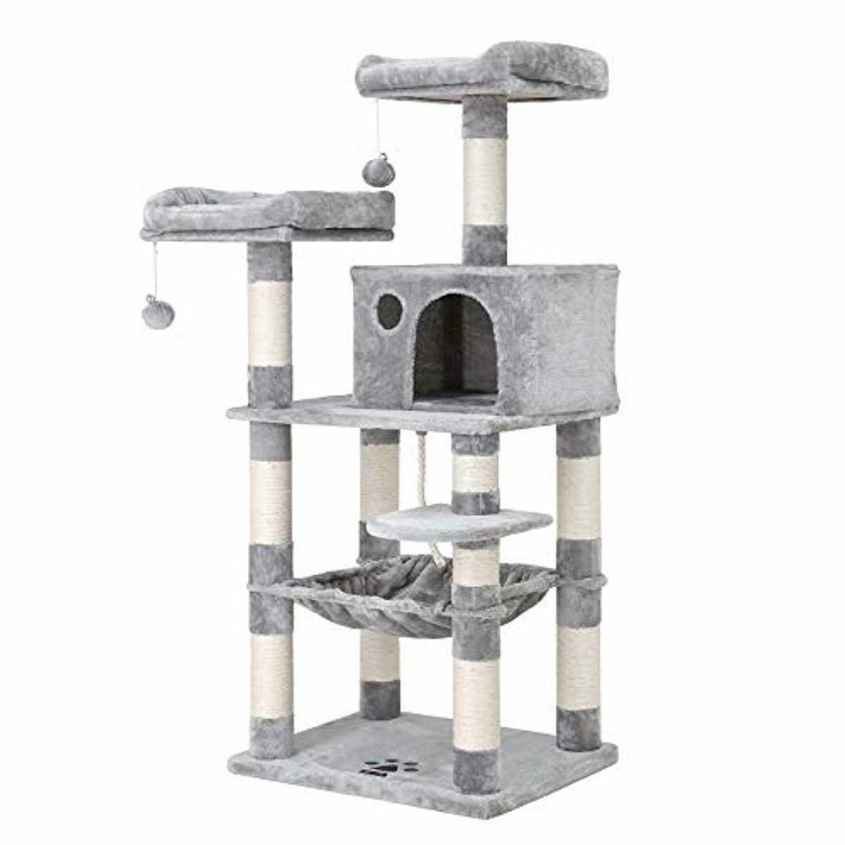 feandrea 58 inches multi level cat tree