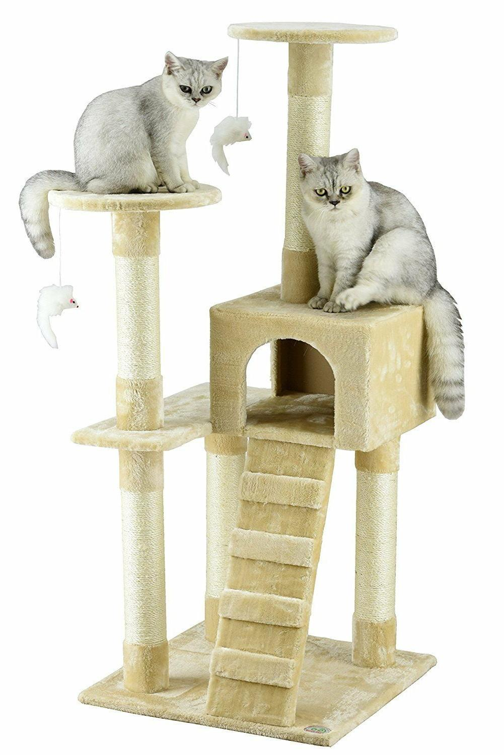 Go Pet Cat Tree Furniture House For Large Cats Modern Box Sc