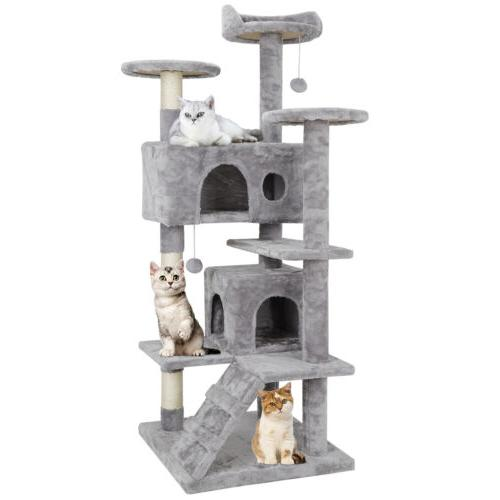 "53"" Tree Post Condo Tower Playhouse W/ Ladders"