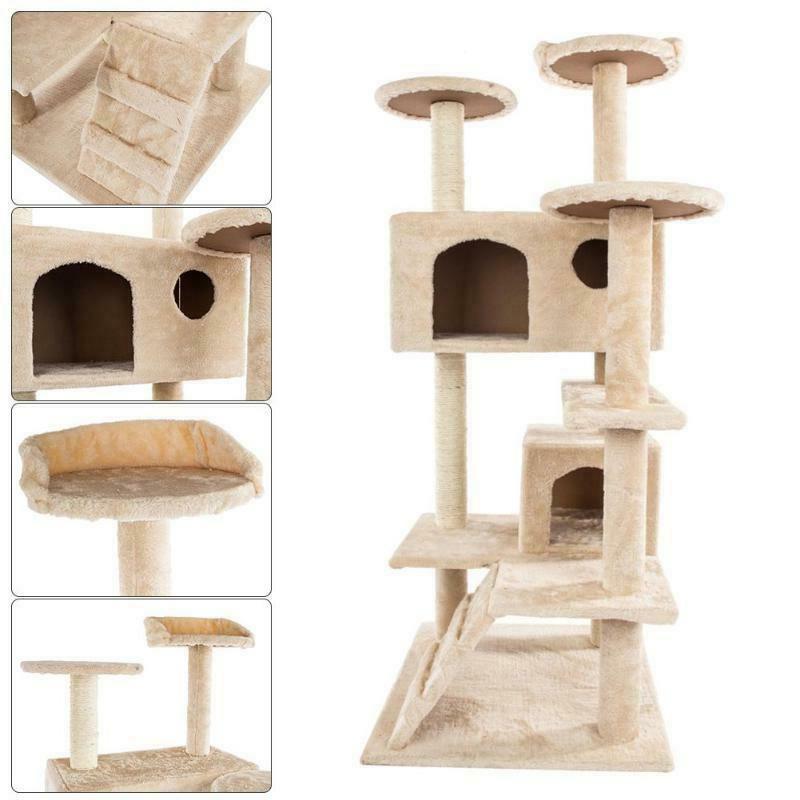 Pet Cat Tower 36-80 Inches Pet Cat Shelf C