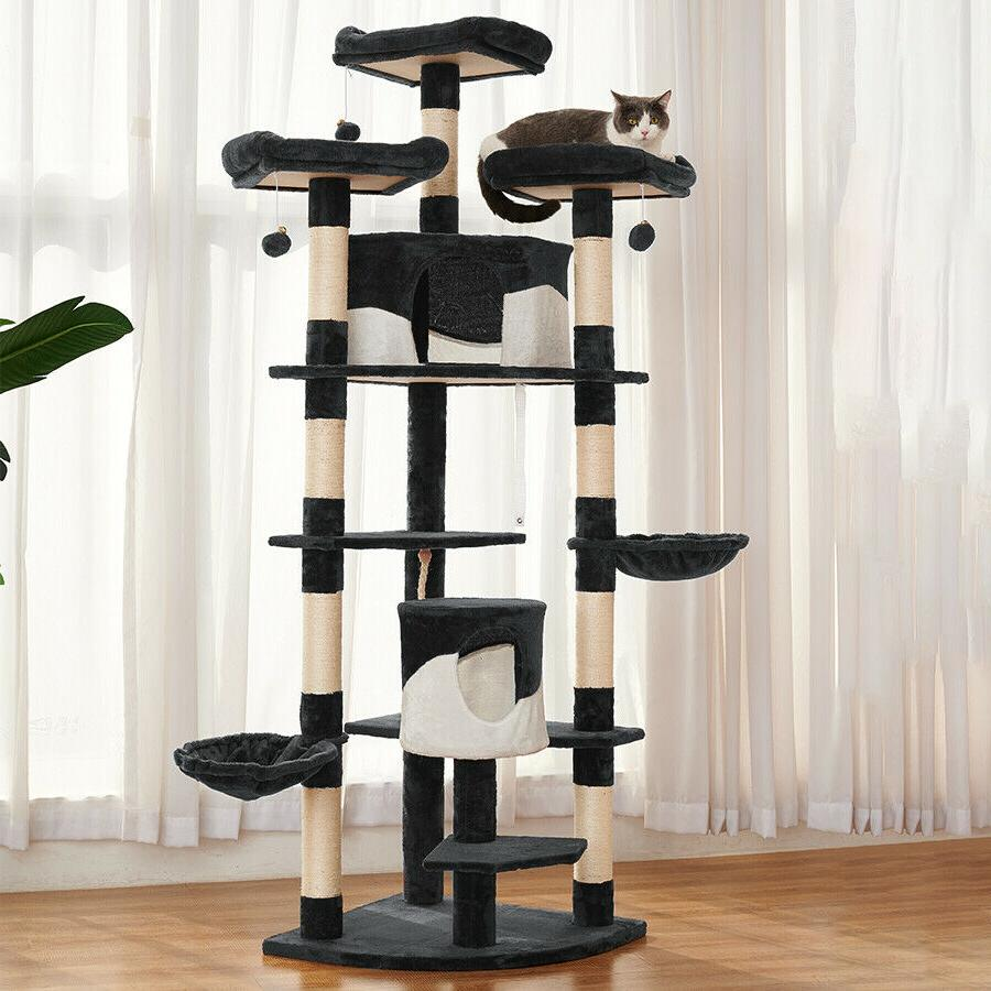 Sisal Scratching Post Cat Tree House Condo Play Kitty Climbing Furniture