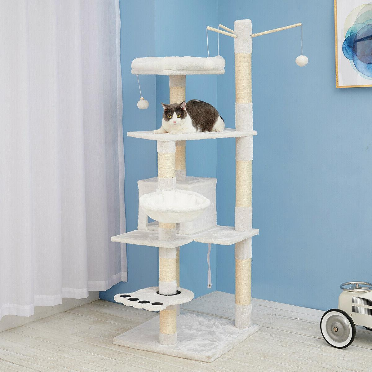 Sisal Scratching Tree House Play Furniture
