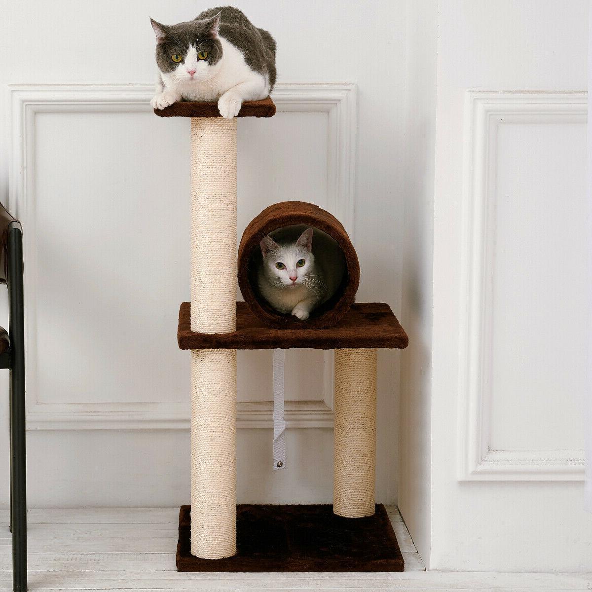 Sisal Post Tree Condo Play Kitty Climbing