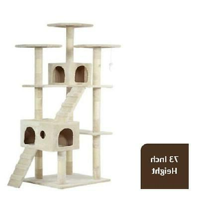 XL Cat Tree Scratcher Condo Big Tower Giant Castle Extra Lar