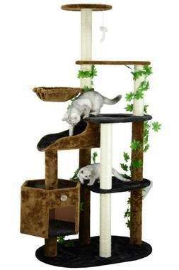 Large Cat Tree Condo Activity Center Pet Scratching Post Kit