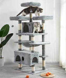 Large Cat Tree Condo with Sisal Scratching Posts Perches Pla