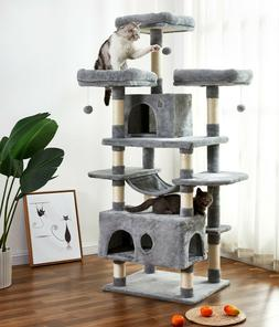 Large Cat Tree Condo with Sisal Scratching Posts Perches Hou