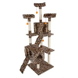 """New 72"""" Cat Tree Tower Condo Furniture Scratching Post Pet C"""