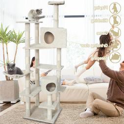 New Cat Tree 80 inch Condo Furniture Scratching Post Pet Cat