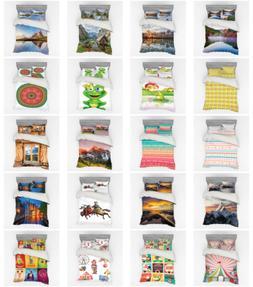 Ambesonne Pastel Bedding Set Duvet Cover Sham Fitted Sheet i