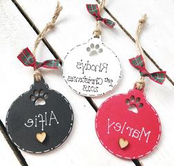 Pet Wooden Personalised Christmas Decoration Bauble Shape Do