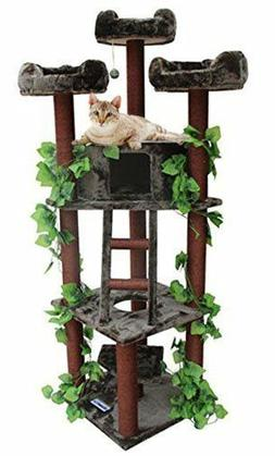 real looking large cat tree furniture condo
