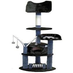 """Go Pet Club 62"""" Tall Greyish Black Cat Tree Furniture"""