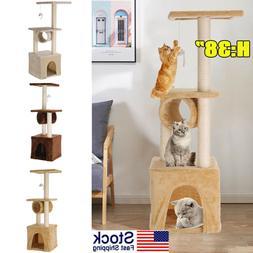 Three Levels Cat Tree Activity Tower Furniture Condo Furnitu