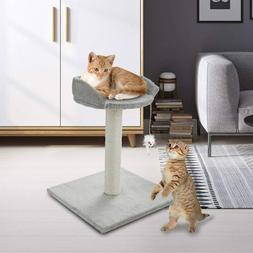 ScratchMe Tree Condo with Scratching Post, Cat Tower Pet Pla