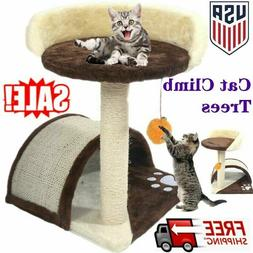 US Cat Tree Tower Condo Furniture Bed Scratch Post Kitty Pla